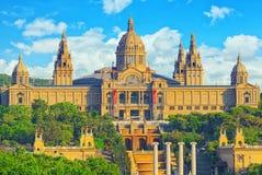 Nationaal Museum in Barcelona Museu Nacional D Art de Catalunya stock afbeeldingen