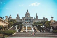 Nationaal Museum van Catalaanse Kunst (MNAC) in Barcelona stock foto's