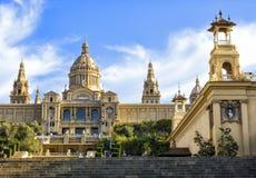 Nationaal museum van Catalaanse visuele kunst, Placa DE Espanya, Barcelona Stock Afbeelding