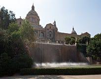 Nationaal museum van kunst van Catalonië - MNAC - in Barcelona royalty-vrije stock foto's