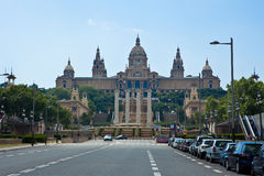 Nationaal Museum van Kunsten in Barcelona in Nationaal P Royalty-vrije Stock Foto