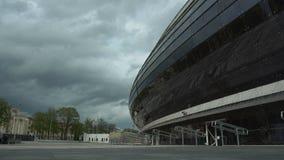 Nationaal olympisch Dinamo-Stadion voor atletiekcompetities van 2de Europese Spelen 2019 in MINSK, WIT-RUSLAND 05 03 19 trefpunt stock footage