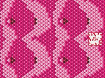 Nationaal oosters patroon, multi-colored vissenschalen van karper Koi De naadloze karper van patroonkoi in heldere rood, roze en  royalty-vrije illustratie