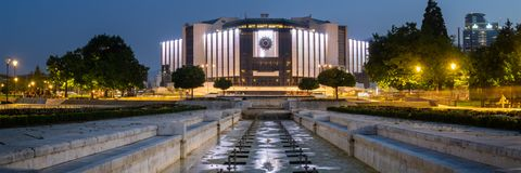 Nationaal Paleis van Cultuur, Sofia - Bulgarije stock afbeeldingen