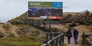 Nationaal Park Cajas, de Post van Tres Cruces, Ecuador Stock Afbeelding