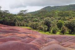 Nationaal park en zijn nabijheid Chamarel, Mauritius royalty-vrije stock foto's