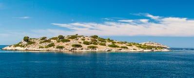 Nationaal park Kornati in Kroatië Royalty-vrije Stock Foto