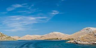 Nationaal park Kornati in Kroatië Stock Foto
