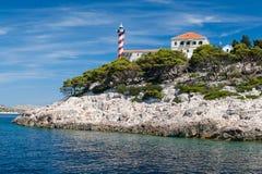 Nationaal park Kornati in Kroatië Royalty-vrije Stock Foto's