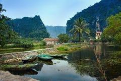 Nationaal Park Ninh Binh vietnam 14-12-2013 stock afbeeldingen
