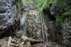 Nationaal park Slowaaks paradijs, Slowakije stock afbeelding