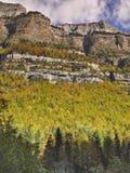 Nationaal Park van Ordesa en Monte Perdido stock afbeelding