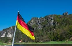 Nationaal Park van Saksisch Zwitserland in oostelijk Duitsland, zuidoosten van Dresden royalty-vrije stock afbeeldingen