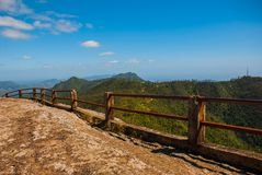 Nationaal Parkla Gran Piedra, Grote Rots, Siërra Maestra, Cuba: De belangrijkste aantrekkelijkheid van deze plaatsen was een reus stock fotografie