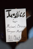 Nationaal Protest over Grote de Jury van Ferguson Uitspraak Royalty-vrije Stock Afbeelding