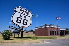 Nationaal Route 66 -Museum in Elandenstad, Oklahoma Royalty-vrije Stock Foto
