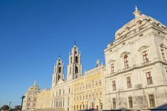 Nationaal Royal Palace en Franciscan Klooster van Mafra Stock Afbeelding