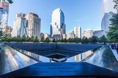 Nationaal 11 September Gedenkteken in Lower Manhattan, de Stad van New York Stock Afbeelding
