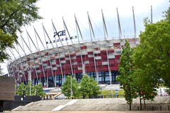 Nationaal stadion PGE Narodowy in Warshau Stock Foto