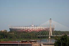 Nationaal Stadion in Warshau, Polen. Royalty-vrije Stock Foto