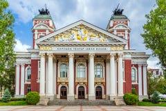 Nationaal theater Ivan Vazov, Sofia, Bulgarije royalty-vrije stock foto's