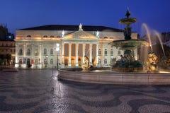 Nationaal Theater, Lissabon, Portugal stock afbeeldingen