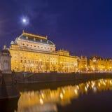 Nationaal theater in Praag Stock Fotografie