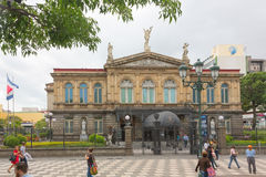 Nationaal Theater van Costa Rica in San Jose Stock Foto's