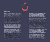 Nationaal Turks istiklal moeras als vectoraffiche van de onafhankelijkheidshymne met tekst Royalty-vrije Stock Afbeeldingen