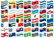 Nationaal vlagdeel van een volledige reeks Stock Foto