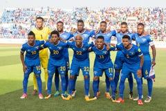 Nationaal voetbalteam van Kaapverdië (Blauwe Haaien) Stock Afbeeldingen