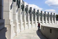 Nationaal Wereldoorlog IIgedenkteken, Washington stock afbeelding