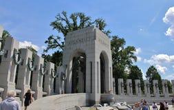 Nationaal Wereldoorlog IIgedenkteken, Washington DC stock foto