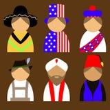 nationail服装的人们 免版税库存图片
