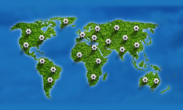 National abstract soccer world map Stock Image