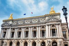 National academy of the music also called Opera Garnier in a cold winter day royalty free stock image