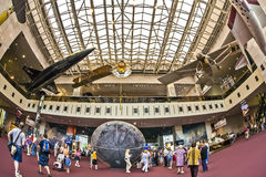 National air and space museum. Washington d.s. us fisheye Royalty Free Stock Photos