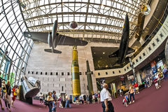 National air and space museum. Washington d.s. us fisheye Stock Image