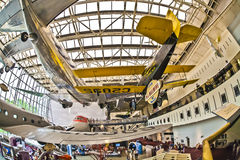 National air and space museum. Washington d.s. us fisheye Royalty Free Stock Photography