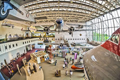National air and space museum. Washington d.s. us fisheye Royalty Free Stock Photo