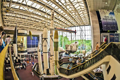 National air and space museum. Washington d.s. us fisheye Stock Images