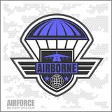 National Airborne Day. Vector illustration on camo background Stock Images
