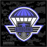 National Airborne Day. Vector illustration on camo background Stock Photo
