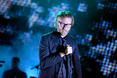 The National (American indie rock band) in concert. BARCELONA - MAY 30: The National (American indie rock band) in concert at Heineken Primavera Sound 2014 Stock Images