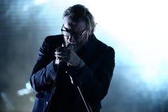 The National (American indie rock band) in concert at Heineken Primavera Sound 2014 Stock Photos