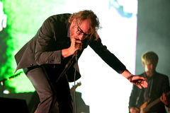 The National American indie rock band in concert at Heineken Primavera Sound 2014. BARCELONA - MAY 30: The National American indie rock band in concert at Royalty Free Stock Image