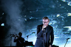 The National (American indie rock band) in concert at Heineken Primavera Sound 2014 Festival. BARCELONA - MAY 30: The National (American indie rock band) in Stock Photography
