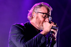The National (American indie rock band) in concert at Heineken Primavera Sound 2014 Festival Stock Photography