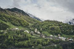 National ancient Georgian village. Royalty Free Stock Photo