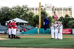 National Anthem in Charleston, SC. Stock Image